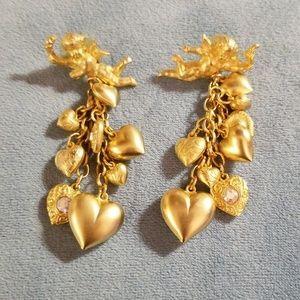 Kirk's folly  cherub earrings